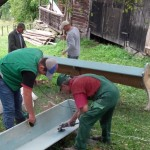 Sanding the pews